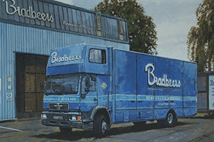 bradbeers removals vehicle